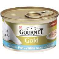 Gourmet Gold Ocean Fish Casserole & White Sauce Adult Cat Food 85g x 12
