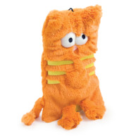 Ancol Flat Cats Soft Dog Toy