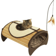 Rosewood Jolly Moggy Natural Bamboo Cat Pod