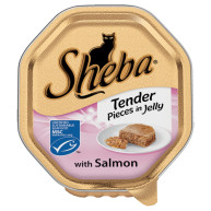 Sheba Tray Tender Pieces of Salmon in Jelly Adult Cat Food 85g x 18