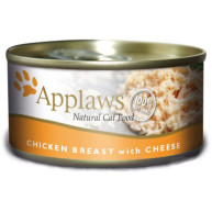 Applaws Chicken Breast & Cheese Can Adult Cat Food 70g x 24