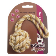 Rosewood Natural Nippers Rope Ball Dog Toy