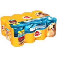Pedigree Can Variety Fish Oil in Jelly Adult Dog Food 400g x 12
