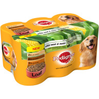 Pedigree Can Variety White Meat & Maize Loaf Adult Dog Food