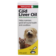 Vetzyme Pure Cod Liver Oil Supplement