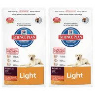 Hills Science Plan Canine Adult Light Large Breed Chicken 12kg x 2