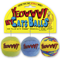 Yeowww Catnip Cat Toy My Cats Balls Pack of 3