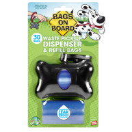 Bags On Board Bone Poo Bag Dispenser Black