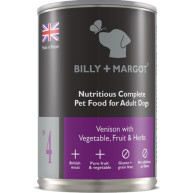 Billy & Margot Venison Complete Adult Dog Food