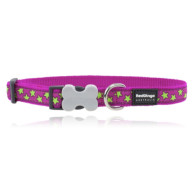 Red Dingo Dog Collar Pink & Green Stars