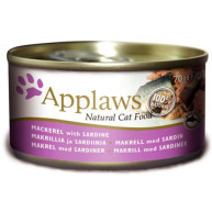 Applaws Marckerel with Sardine Tin Adult Cat Food 70g x 24