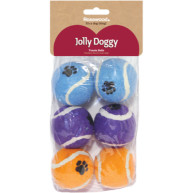 Rosewood Jolly Doggy Tennis Balls 6 Pack