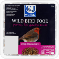 CJ Wildlife Dried Mealworms 50g