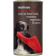 Waitrose Chunks in Gravy Beef & Vegetable Adult Dog Food 1.2kg x 12