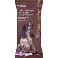 Waitrose Deli Sausages Venison & Tripe 8s Dog Treats 60g