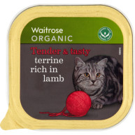 Waitrose Organic Terrine Rich in Lamb Cat Food 100g x 16