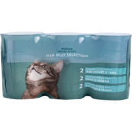Waitrose Special Recipe Fish Jelly Selection Cat Food 400g x 6