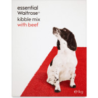 essential Waitrose Kibble Mix with Beef Adult Dog Food 1kg