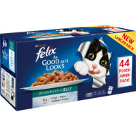 Felix As Good As It Looks Ocean Feasts Cat Food 100g x 44