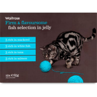 Waitrose Fish Selection in Jelly Cat Food 85g x 12