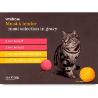 Waitrose Meat Selection In Gravy Cat Food 85g x 12