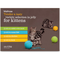 Waitrose Variety Selection in Jelly Kitten Food 85g x 12