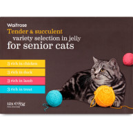 Waitrose Variety Selection in Jelly Senior Cat Food 85g x 12