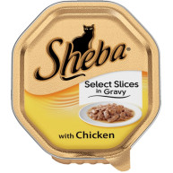 Sheba Tray Select Slices in Gravy with Chicken Adult Cat Food 85g x 18