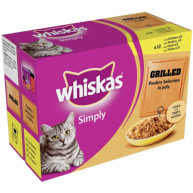 Whiskas Pouch Simply Grilled Poultry Adult Cat Food