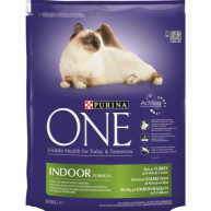 Purina ONE Turkey Indoor Adult Cat Food 800g