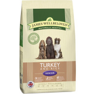 James Wellbeloved Turkey & Rice Senior Dog Food 15kg