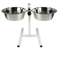 Rosewood Adjustable Double Diner Dog Bowl