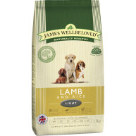 James Wellbeloved Lamb & Rice Light Adult Dog Food 12.5kg