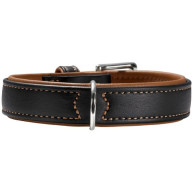Hunter Flat & Soft Leather Elk Luxury Dog Collar