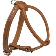 Hunter Round & Soft Leather Elk Luxury Dog Harness