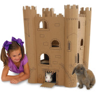 Smartkitz Cardboard Pet Castle Large
