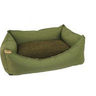 Earthbound Rectangular Removable Waterproof Green Dog Bed  Medium