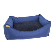 Earthbound Rectangular Removable Waterproof Blue Dog Bed