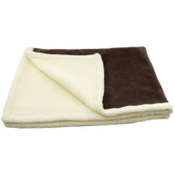 Earthbound Sherpa Chocolate Dog Blanket