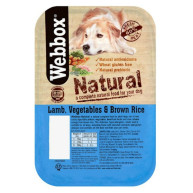 Webbox Natural Trays Lamb Veg & Brown Rice Adult Dog Food 400g x 7