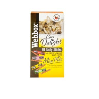 Webbox Cats Delight Mini Mix Tasty Cat Sticks Treats 16 Sticks