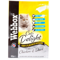 Webbox Cat Delight Complete Chicken & Duck Adult Cat food 400g