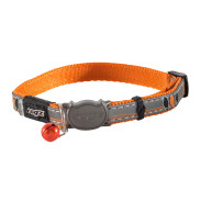 Rogz Catz Night Orange Cat Collar
