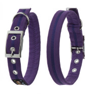 Oscar & Hooch Purple Dog Collar