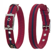 Oscar & Hooch Red & Navy Dog Collar