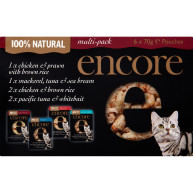 Encore Multi Pack Selection Pouch Adult Cat Food 70g x 6