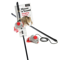 Sharples Pet Mouse n Sound Dangling Cat Toy