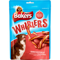 Bakers Whirlers Original Dog Treats Bacon & Cheese 175g