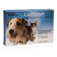 Capstar Flea Tablets 6 x 11.4mg Dog & Cat
