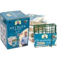 Alan Titchmarsh Variety Suet Block & Bird Feeder Gift Set